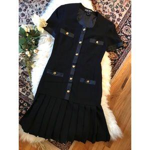 Escada pleat dress Black Sz 34 (Small)